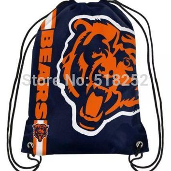 Chicago Bears Drawstring BackPack NFL Bags 35x45cm Sports Team,free shipping
