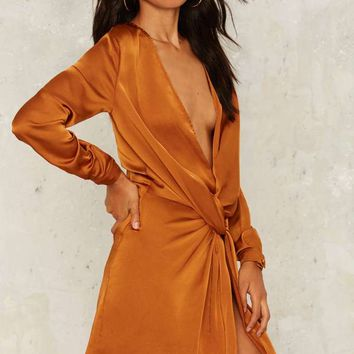 Stage Night Mini Dress - Orange