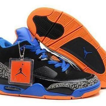 Cheap Air Jordan Son Of Mars Low Shoes Black Blue Orange