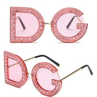 DG Round Crystal Sunglasses