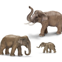 Schleich Asia Elephant Family Figurine Collection - Set of 3