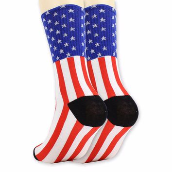 American Flag Socks Funny Crazy Cool Novelty Cute Fun Funky Colorful