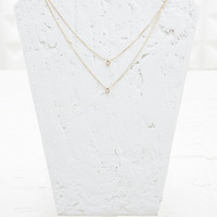 Double Row Diamond Necklace - Urban Outfitters
