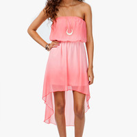 Ombre Chiffon Hi Lo Dress