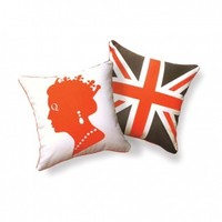 Queen Orange and Brown Pillow
