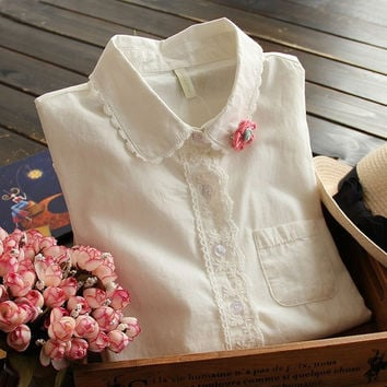 Spring Women Blouse & Shirts Fashion Ladies S-XXL Blouses