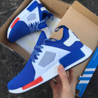 """""""Adidas"""" NMD XR1 Duck Camo Women Men Running Sport Casual Shoes Sneakers Camouflage blue white soles"""