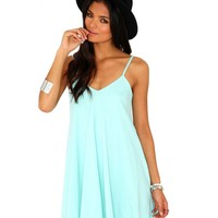 Missguided - Dayla Oversized Swing Dress In Mint