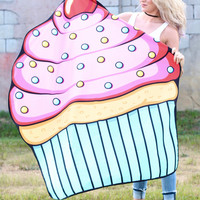 Large Cupcake Beach Mat