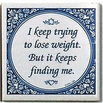 Delft Magnet Tile Quotes: Losing Weight