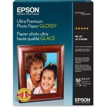 Epson Glossy Photo Paper - 8.5 In X 11 In - 50 Sheet(s)