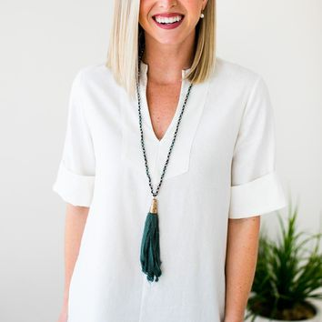 Find the Time Ivory Linen Top