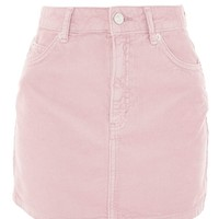 MOTO Pink Cord Mini Skirt