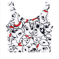 Harajuku new summer  women's fashion crop tops graphic print cartoon my little pony/weed/lips cute cropped tanks tube top