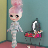 Kenner Blythe one Jumpsuit All in One and Ruffled Jacket set E PATTERN in Japanese crafts pdf doll fashion clothes