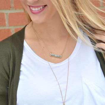 Just Feels Right Necklace - Hematite