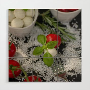 Italian appetizer Wood Wall Art by tanjariedel