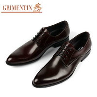 GRIMENTIN Fashion Italian classic mens dress shoes brown black casual men leather shoe flats luxury