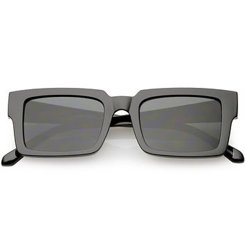 Retro Modern Square Flat Lens Flat Top Sunglasses C732