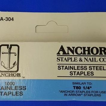 "Stainless Steel Staples, 1/4 "" (1000)"