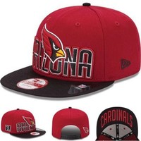 Perfect Arizona Cardinals NFL 2013 Squared Up 9FIFTY Cap Women Men Embroidery Sports Sun Hat Baseball Cap Hat