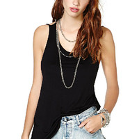 Black Criss Cross Backless Slim Vest - Sheinside.com