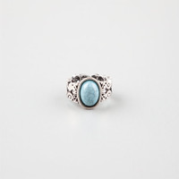 Full Tilt Filigree Turquoise Stretch Ring Silver One Size For Women 24633214001