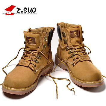 Lace-up Men Boots New Spring Genuine Leather Ankle Boots Men Tactical Boots Man Botas