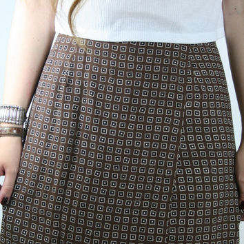 Patterned SKORT Geometric Pattern HIGH RISE  // Small