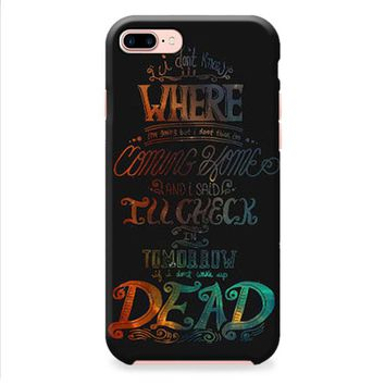 Fall Out Boy Alone Together Lyrics Dark iPhone 8 | iPhone 8 Plus Case