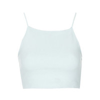 Ribbed Crop Top - Pale Blue