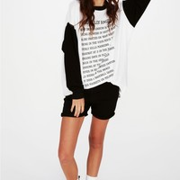 LOVE LA ROADTRIP SWEATER DRESS