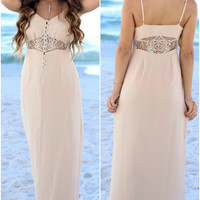 Dusk To Dawn Lace Crochet Maxi Dress