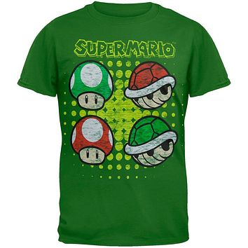 Nintendo - Mushrooms and Turtle Shells Youth T-Shirt