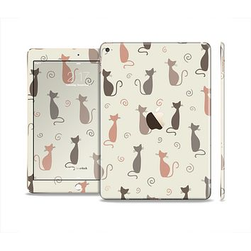 The Vintage Solid Cat Shadows Skin Set for the Apple iPad Air 2