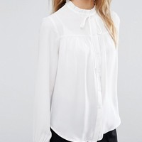 New Look High Neck Smock Shirt at asos.com