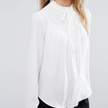 0171c1c1b6686e New Look High Neck Smock Shirt at from ASOS | dates with dakota