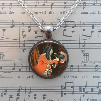 Peter Pan Necklace, Once Upon a Time, Fairy Tales, Tinkerbell, Neverland, Whimsical T267