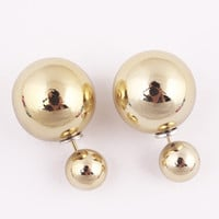 Earrings Double Side Shining Pearl Stud Earrings Big Pearl Earrings  (11 colors available)