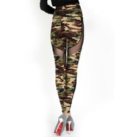 Mid Waist Camo Leggings