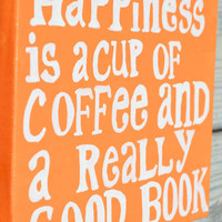 Happiness is Quote on 8x10 Canvas by HandyQuotes on Etsy