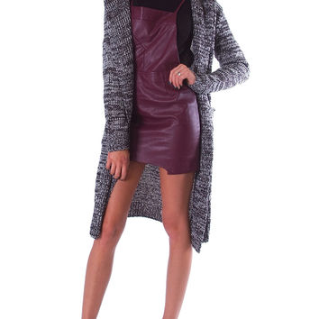 Take Cover Knit Cardigan - Charcoal Gray