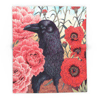 Society6 Crow Effigy Blanket