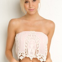 ROZA CROCHET TUBE TOP