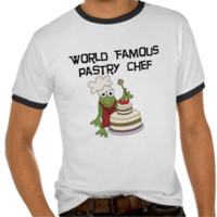 Frog Pastry Chef Tshirts and Gifts