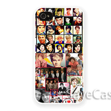 One Direction Collage - iPhone Case - iPhone 4 iPhone 4s - iphone 5 - Samsung S3 - Samsung S4