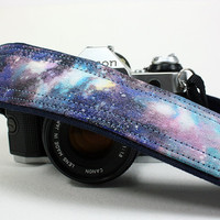 Galaxy Camera Strap, OOAK, No. 27, Hand painted, dSLR or SLR, Cosmos, Nebula