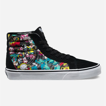 Vans Disney Rabbit Hole Vans Sk8-Hi Reissue Womens Shoes Black Combo  In Sizes