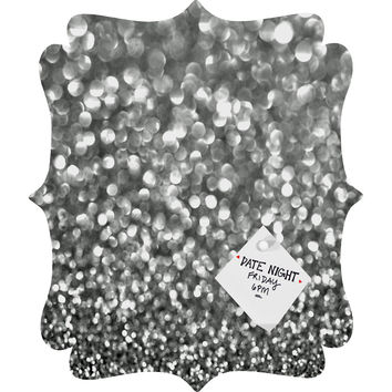 Lisa Argyropoulos Steely Grays Quatrefoil Magnet Board