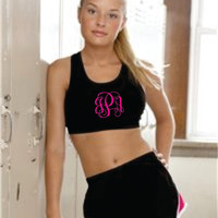 Monogrammed Sports Bra- Great Christmas Gifts, Birthday Gift, Working Out, Sororitys